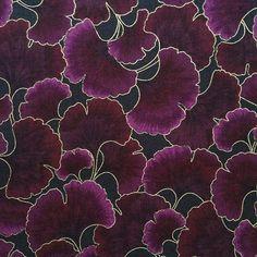 Kona Bay quilt cotton Eggplant Ginkgo Tonal purple
