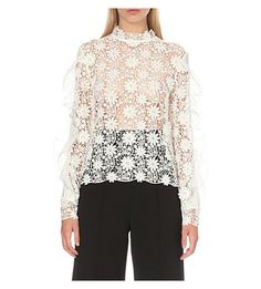 SELF-PORTRAIT Shakespeare Lace Blouse. #self-portrait #cloth #tops