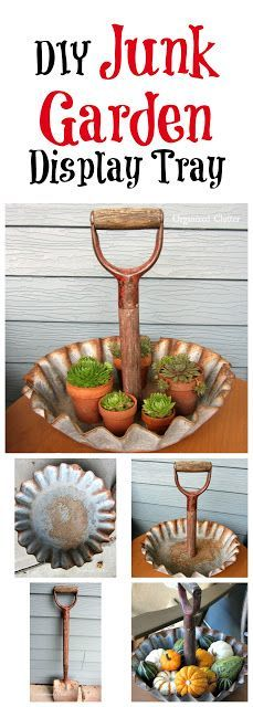 Farm Feeder Tray/Shovel Handle Repurpose www.organizedclutter.com