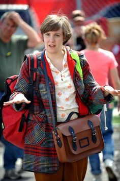 Lena Dunham Ditches Her Shorteralls for Schoolgirl Plaid and Satchels in GIRLS Season 3