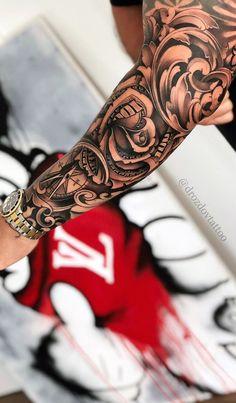 make money tattoo Via Vladimir Drozdov . Forarm Tattoos, Elbow Tattoos, Forearm Sleeve Tattoos, Best Sleeve Tattoos, Tattoo Sleeve Designs, Body Art Tattoos, Full Arm Tattoos, Shoulder Tattoos, Tattos
