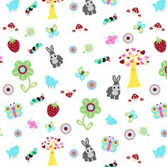 Fruity Forest Ditsy-Mayabella Spoonflower fabric