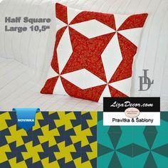 Patchworkové pravítko Half Square Large 10,5 - NEON