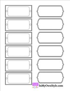 Organizing and Free Printable Labels
