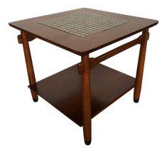 Lane Mid-Century Mosaic Top Side Table on Chairish.com