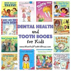 dental health and tooth themed books for kids (preschool thru 2nd grade).. a great book to read to your children to ease the fear of their first dental appt!