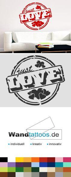 Wandtattoo Button Just Love als Idee zur individuellen Wandgestaltung. Einfach Lieblingsfarbe und Größe auswählen. Weitere kreative Anregungen von Wandtattoos.de hier entdecken!