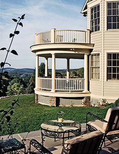 covered gazebo with deck above