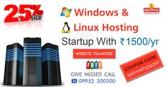 Use our coupon code code to get 25% offer on windows, Linux Hosting in affordable price.For further details refer our website. http://sathyainfo.com/ #webhosting #windowshosting #linuxhosting