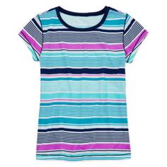 Arizona Short-Sleeve Striped Favorite Knit Tee - Girls 7-16 and Plus  found at @JCPenney
