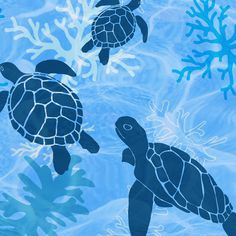 Sea Turtle Dreams by shellypenko, click to purchase fabric
