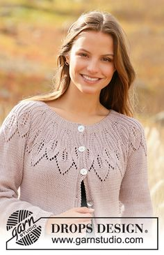 Listen to Nature / DROPS - Free knitting patterns by DROPS Design Informations About Listen to Ladies Cardigan Knitting Patterns, Knitting Patterns Free, Knit Patterns, Drops Design, Vintage Knitting, Lace Knitting, Knit Crochet, Knit Cowl, Hand Crochet