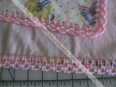 With the long car ride to see the parents, I worked on baby blankets. The first blanket is for a girl. I have had the little sheep print flannel hidden in the stash for many years and it was time f…