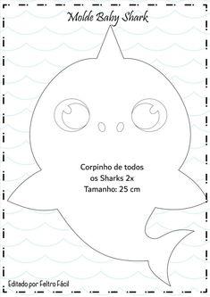 Molde Baby Shark em Feltro | Faça Você Mesmo! Moldes Criativos