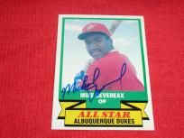 Mike Devereax signed autographed L.A. Dodgers Albuquerque Dukes baseball card *FREE SHIPPING!* $4.99