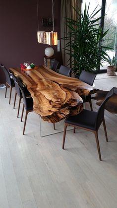Live Edge Table Single Slab Table Mappa Table Burl Table Wood