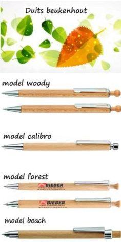 AB. bio houten pennen vulpotloden BEUKENHOUT