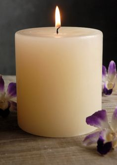 4x4 Ivory Pillar Candles Unscented Cotton Wicks  $8.50 each / 3 for $8 each