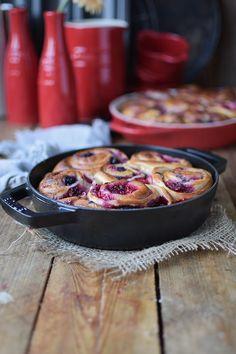 Beeren Schnecken mit Joghurt - Berry Summer Rolls with Yogurt | Das Knusperstübchen
