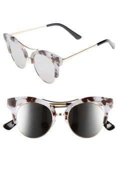 8f1cfdfb30 56mm Funky Cat Eye Sunglasses available at  Nordstrom Cat Eye Frames