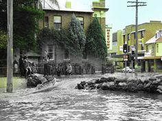 THEN and NOW, floods in Maitland NSW