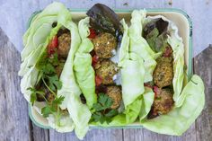 "Herb & Pistachio Falafel, these are a personal fav. in our house. Delish! One tip, use cashew butter that has some natural oil in it. If you get the ""grind yourself"" kind from whole fds it will clumb with the grape seed oil."