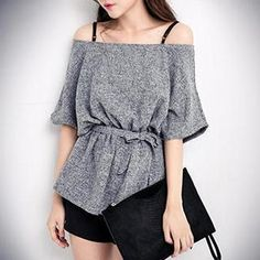 Buy 'PUFII – Off-Shoulder Peplum Top' with Free International Shipping at YesStyle.com. Browse and shop for thousands of Asian fashion items from Taiwan and more!