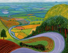 David Hockney Garrowby Hill Art Painting for sale. Shop your favorite Collection David Hockney Garrowby Hill Art Painting without breaking your banks. Ipad Art, Arte Pop, David Hockney Landscapes, David Hockney Paintings, David Hockney Art, Landscape Art, Landscape Paintings, Artwork Paintings, Ipad Kunst