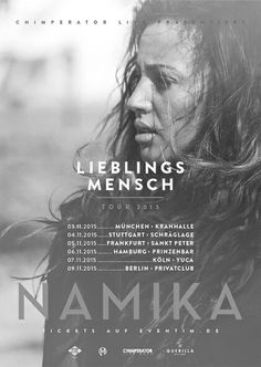 I totaly adore Namika. I wish I can go to one of her concerts.