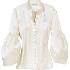 Satin Blouse (114.760 RUB) ❤ liked on Polyvore featuring tops, blouses, shirts, white, white shirt, white shirt blouse, satin blouse, white satin top and white blouse