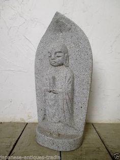 Japanese Garden Zen Monk Jizo Bosatsu Mizuko Seki Butsu Buddha Statue
