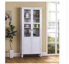 Hutch Buffet China Cabinet Kitchen Bathroom Dining Room Storage Unit Cupboard in Home & Garden,Furniture,Cabinets & Cupboards | eBay