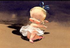 """concept art for Disney that never made it to the screen.it was titled """"Baby Ballet"""". Mary Blair, Disney Concept Art, Disney Art, Character Illustration, Illustration Art, Baby Ballet, Fairy Tales For Kids, Illustrations And Posters, Disney Animation"""