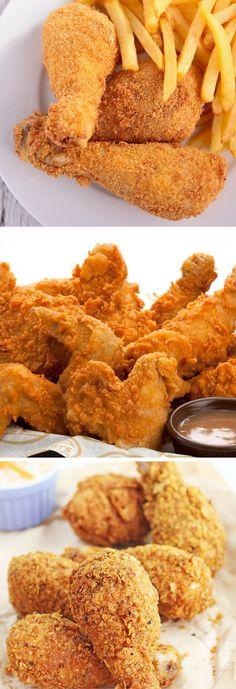 Conoce la mejor receta al estilo americano de pollo frito Pollo Frito Estilo Kentucky, Pollo Kfc, My Recipes, Favorite Recipes, Chicken Recepies, Fat Foods, Latin Food, Food Menu, Food Network Recipes
