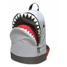 Red shark bag from polyvore.com | Backpack | Pinterest | Shark