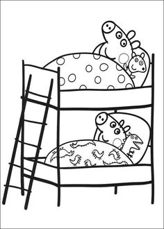 Printable Peppa Pig Coloring Pages. Have a Joy with Peppa Pig Coloring Pages. Do your children like to color pictures? If they do, the Peppa pig coloring pages Peppa Pig Coloring Pages, New Year Coloring Pages, Cartoon Coloring Pages, Coloring Pages To Print, Coloring Pages For Kids, Coloring Sheets, Coloring Books, Peppa E George, George Pig