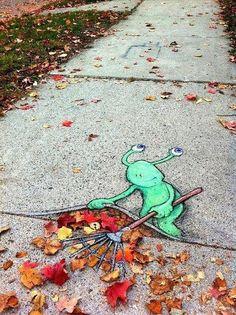 Sluggo Chalk Art   Pic   Gear