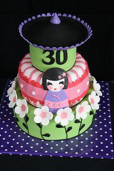 Geisha cake. Artist unknown.
