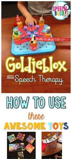 A great post on how to use Goldieblox in speech therapy to work on language and social skills.