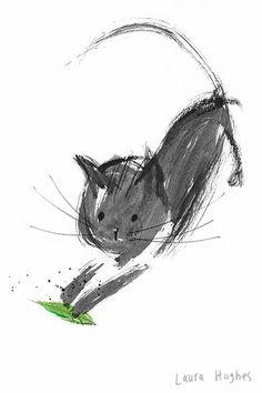 cat illustration - Laura Hughes