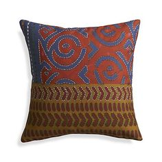 """Millie 12"""" Pillow with Feather-Down Insert in Decorative Pillows   Crate and Barrel"""
