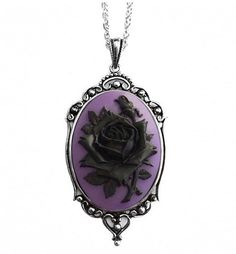 Gift idea for Mallory, she would love this........Black Rose Cameo Necklace from Couture by Lolita