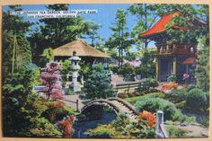 Japanese Tea Garden Golden Gate Park San Francisco CA 1940's Linen Postcard