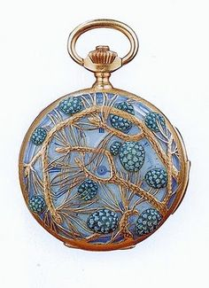 Lalique watch with pine cones