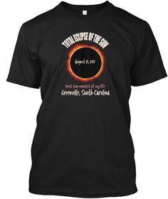 Eclipse Souvenir Greenville Black T-Shirt Front