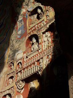buddha carvings, cloud ridge caves, datong, china  #buddhist