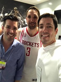 Raptors game with Jonathan Silver & Drew Scott   2017