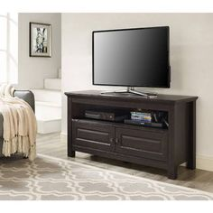 Walker Edison TV Stand for TVs up to 48 inch, Multiple Colors, Brown