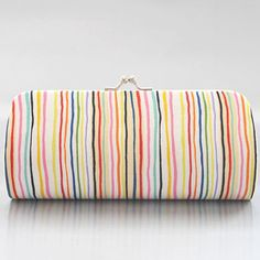 Colour in Stripes in Bright Small Clutch Purse by PoppyPunch, $14.00