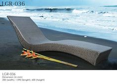 Synthetic Rattan Wicker Sunbed - LEOLA FURNITURE-Outdoor Furniture Manufacturer from Bali, Indonesia